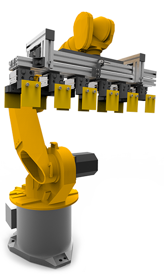 robotic arm for laying bricks