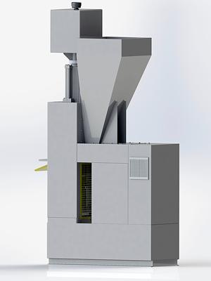 High pressure lego brick and block making machine