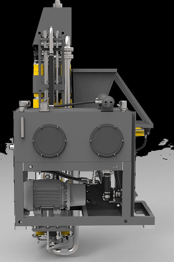 High-pressure block making machine