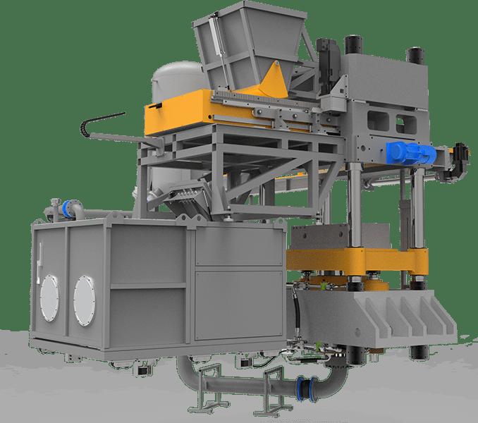 Calcium silicate brick machine