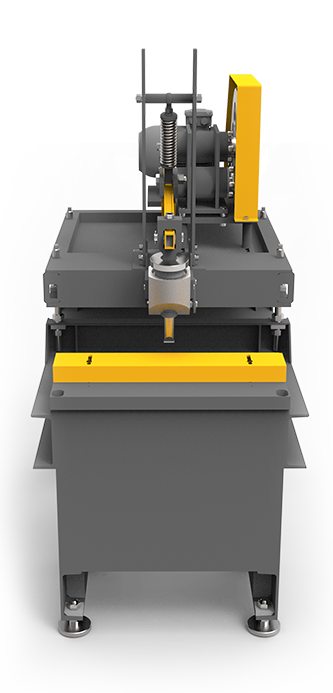 Deep splitter for brick and block machines