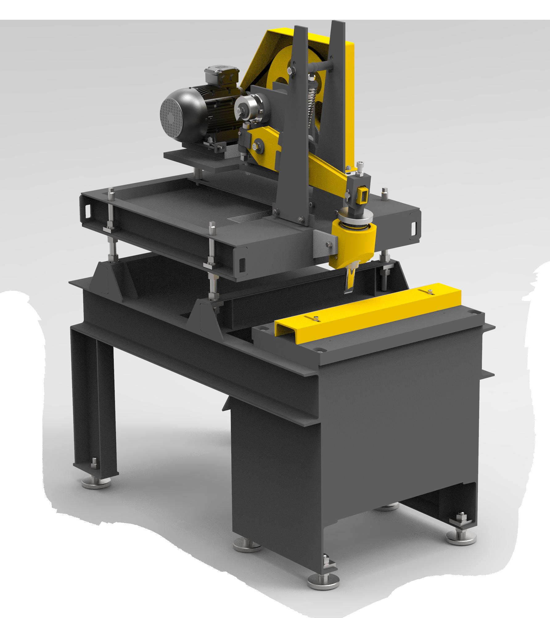 Deep splitter for brick machine