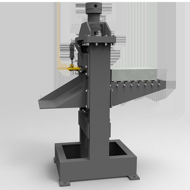 Automatic brick splitter for brick machine