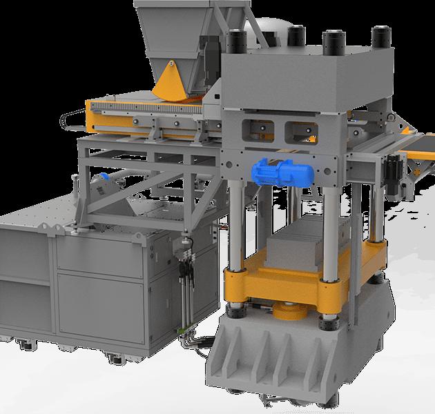 Прессы для силикатного кирпича и блоков